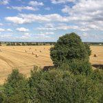 Weite Felder umgeben das Bubenheimer Spieleland