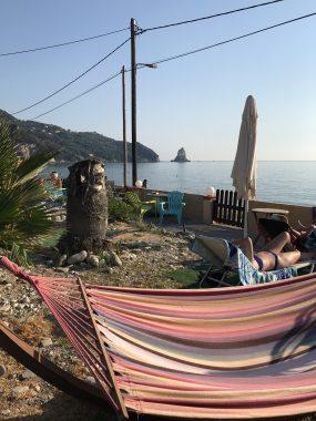 Blick von Louiza auf Agios Gordios